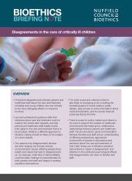 Disagreements in the care of critically ill children cover