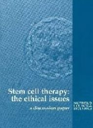 Stem cells report cover