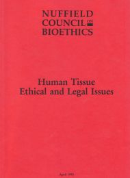 Human Tissue Ethical and Legal Issues report cover