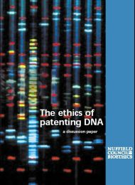 Patenting DNA cover