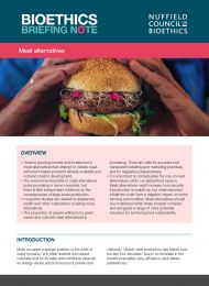 Meat alternatives bioethics briefing note 1
