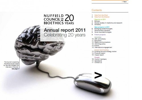 Annual report 2011 front page image