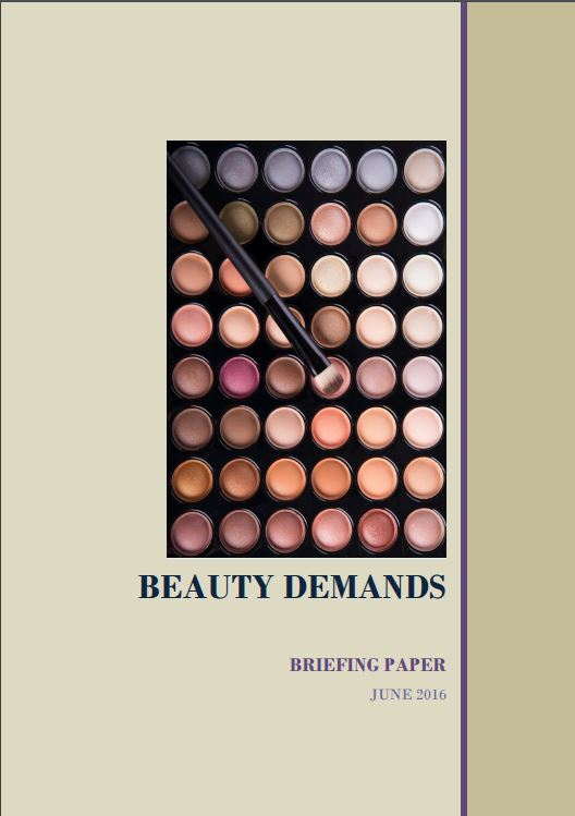 Beauty demands briefing paper cover