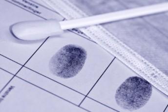 DNA swab and fingerprints