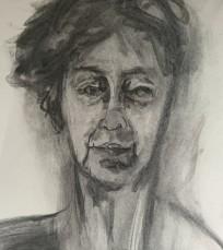 Annabel Mednick's self-portrait